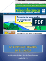 La Empresa Privada en El Cauca (2)