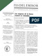 Los Origenes de La Banca Central en Colombia