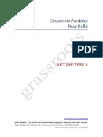 NET JRF Test 1