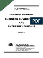 Study Material - Business Environment & Entrepreneurship