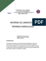 Informe de Laboratorio Bombas