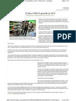 FMCG Future Trends 2013