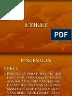 1 - ETIKET
