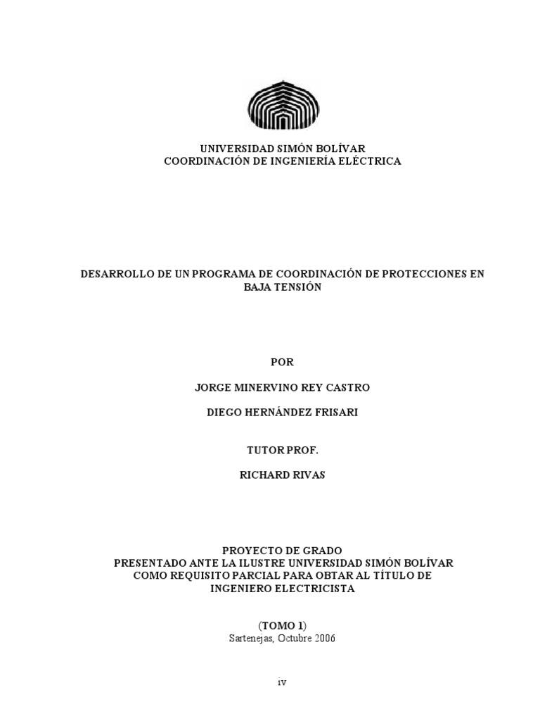 Desarrollo de Un Software de Coordinacion de Protecciones en Baja ...
