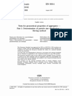 En 933-1 Tests for geometrical properties of aggregates