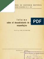 Bruyne 1963 - Informe Sobre El Descubrimiento de Un Área Arqueológica