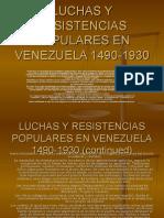 LUCHAS Y RESISTENCIAS POPULARES EN VENEZUELA 1890-1930