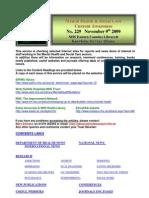 Mental Health Bulletin No 229 November 9th 2009