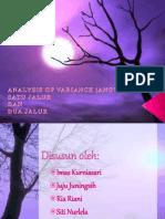 Analysis Variance (ANOVA)
