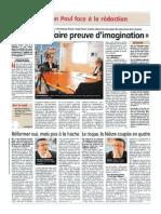 Débat Au Journal Du Centre - 12 05 14