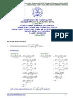 Soal Dan Pembahasan OSN Matematika SMP Tingkat Kota 2014 [Bagian B]_Rev