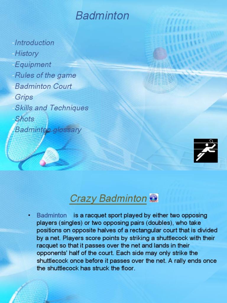 Badminton doubles tactics pdf file