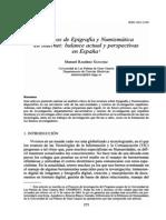 Epigrafía y Numismática e