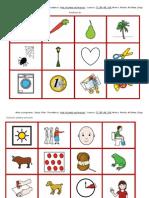Tarjetas Discriminacion Auditiva Palabras y Dibujos