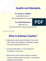 Software Quality and Standards