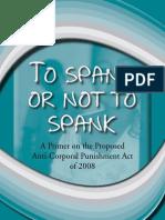 Primer on the Anti-Corporal Punishment Bill