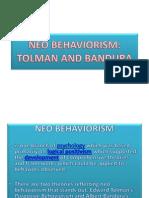 Neo Behaviorism Ppt
