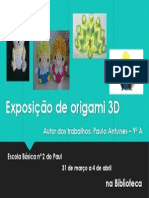 Cartaz Origami _ Paulinho