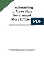 Becnhmarking to Make State Gov Efficient