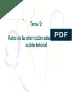 Tema 9. Retos de La Orientación Educativa y La Acción Tutorial