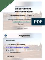 Eléments de cours TD3 Comptt du conso ESC3