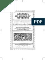 Adorer en Esprit Et en Verité St Pierre Julien Eymard 1