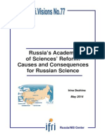 Russia's Academy of Sciences' Reform