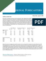 Prognoza makroekonomistów Fed (III kwartał 2009)