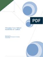 Managing Cross Cultural Sensitivities & Conflicts