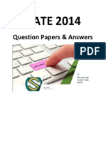GATE 2014 Question Paper & Answers - GG