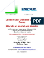 Deaf Diabetes Poster - London 17 May (1)