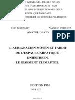 Borziac Chirica David Aurignacien Moyen Et Tardif