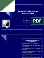 Clase 2 y 3 Administracion de Proyectos