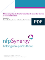 Nine Campaign Tactics for Charities to Consider Before the Next Election