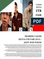 Hearing Calon Ketua Itb Fair 2012