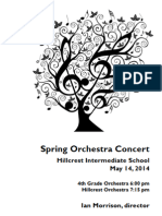Hillcrest and 4th Grade Strings Orchestra Concert 5/14/14