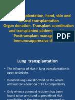 Curs 5 - Lung, Hand, Corneal, Skin