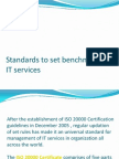 Standards to set benchmarks in  IT services