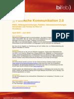 Detailprogramm Politische Kommunikation 2.0