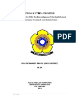Divi Deswanti Sardy_09111002007_ Etika Profesi, Studi Kasus Trademark or Domain Name