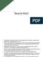 Reactia ASLO