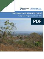 Draf Input RPJMN 2015-2019 Kebijakan Pengaturan Tanah Adat