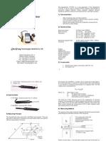 Teslameter CYHT201-User's Manual