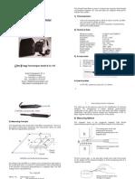 Teslameter CYHT20-User's Manual