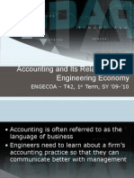 Accounting and Its Relationship to Engineering Economy
