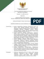 Peraturan Menteri Pekerjaan Umum Nomor 01/PRT/M/2014 tentang Standar Pelayanan Minimum Bidang Pekerjaan Umum dan Penataan Ruang