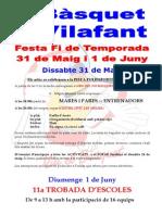 Rètol Festa Fi Temporada 2013-2014