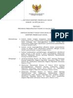 Peraturan Menteri Pekerjaan Umum Nomor 02/PRT/M/2014 tentang Pedoman Pemanfaatan Ruang di dalam Bumi