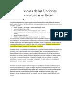 Limitaciones de Las Funciones Personalizadas en Excel