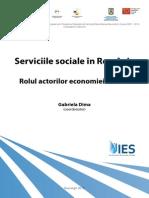 Raport Serviciile Sociale in Romania. Rolul Actorilor Economiei Sociale